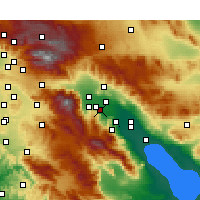 Nearby Forecast Locations - Rancho Mirage - Χάρτης