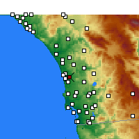 Nearby Forecast Locations - Rancho Santa Fe - Χάρτης