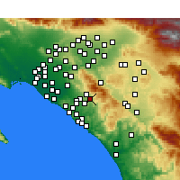 Nearby Forecast Locations - Rancho Santa Margarita - Χάρτης