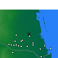 Nearby Forecast Locations - Raymondville - Χάρτης