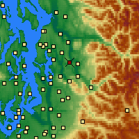 Nearby Forecast Locations - Redmond - Χάρτης