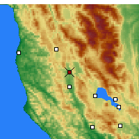 Nearby Forecast Locations - Redwood Valley - Χάρτης