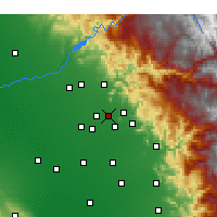 Nearby Forecast Locations - Reedley - Χάρτης