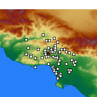 Nearby Forecast Locations - Reseda - Χάρτης