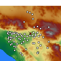 Nearby Forecast Locations - Rialto - Χάρτης