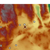 Nearby Forecast Locations - Ridgecrest - Χάρτης
