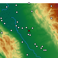 Nearby Forecast Locations - Riverbank - Χάρτης