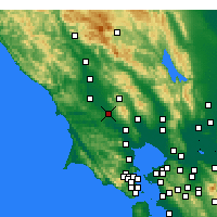 Nearby Forecast Locations - Rohnert Park - Χάρτης