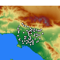 Nearby Forecast Locations - Rosemead - Χάρτης