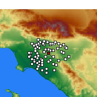 Nearby Forecast Locations - Rowland Heights - Χάρτης