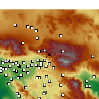 Nearby Forecast Locations - Running Springs - Χάρτης