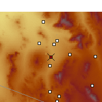 Nearby Forecast Locations - Sahuarita - Χάρτης