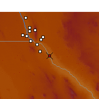 Nearby Forecast Locations - San Elizario - Χάρτης
