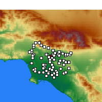 Nearby Forecast Locations - San Gabriel - Χάρτης