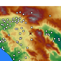 Nearby Forecast Locations - San Jacinto - Χάρτης