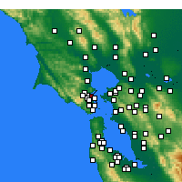 Nearby Forecast Locations - San Rafael - Χάρτης