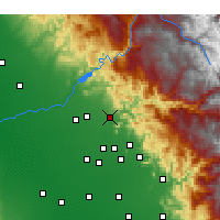 Nearby Forecast Locations - Sanger - Χάρτης