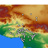 Nearby Forecast Locations - Santa Clarita - Χάρτης
