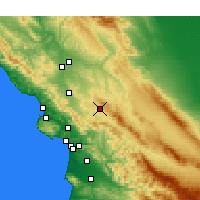 Nearby Forecast Locations - Santa Margarita - Χάρτης