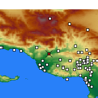 Nearby Forecast Locations - Santa Paula - Χάρτης