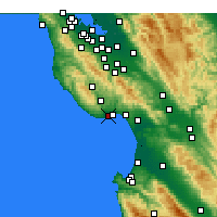 Nearby Forecast Locations - Scotts Valley - Χάρτης
