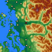 Nearby Forecast Locations - Sedro-Woolley - Χάρτης