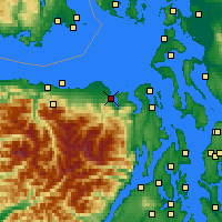 Nearby Forecast Locations - Sequim - Χάρτης