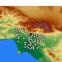 Nearby Forecast Locations - Sierra Madre - Χάρτης