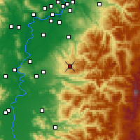 Nearby Forecast Locations - Silverton - Χάρτης