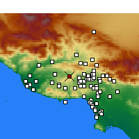 Nearby Forecast Locations - Simi Valley - Χάρτης