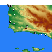 Nearby Forecast Locations - Solvang - Χάρτης