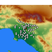 Nearby Forecast Locations - South El Monte - Χάρτης