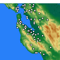 Nearby Forecast Locations - Stanford - Χάρτης