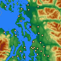 Nearby Forecast Locations - Stanwood - Χάρτης