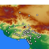 Nearby Forecast Locations - Stevenson Ranch - Χάρτης