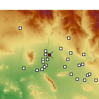 Nearby Forecast Locations - Sun City - Χάρτης