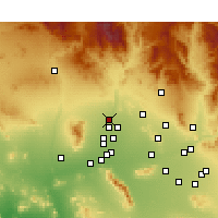 Nearby Forecast Locations - Sun City West - Χάρτης