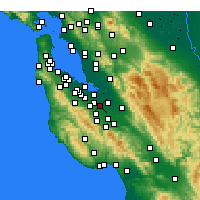 Nearby Forecast Locations - Sunnyvale - Χάρτης