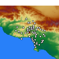 Nearby Forecast Locations - Tarzana - Χάρτης