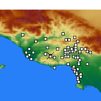 Nearby Forecast Locations - Thousand Oaks - Χάρτης