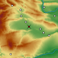 Nearby Forecast Locations - Toppenish - Χάρτης