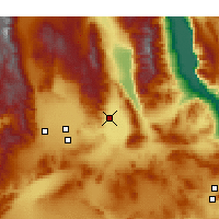 Nearby Forecast Locations - Trona - Χάρτης
