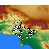 Nearby Forecast Locations - Sunland-Tujunga - Χάρτης