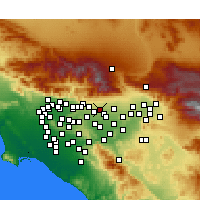Nearby Forecast Locations - Upland - Χάρτης