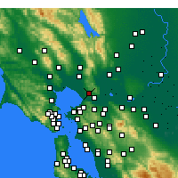 Nearby Forecast Locations - Vallejo - Χάρτης
