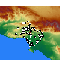 Nearby Forecast Locations - Valley Village - Χάρτης