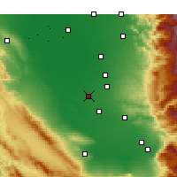 Nearby Forecast Locations - Wasco - Χάρτης