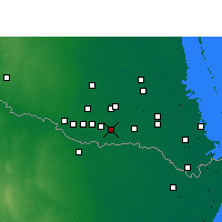 Nearby Forecast Locations - Weslaco - Χάρτης