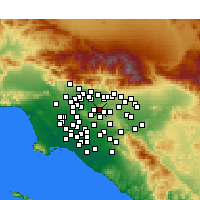 Nearby Forecast Locations - West Covina - Χάρτης