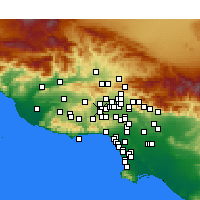 Nearby Forecast Locations - West Hills - Χάρτης